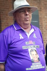 Kirralee Paepaerei's stepfather Godwin D'Ugo wore a shirt in memory of his stepdaughter at her killer's sentence hearing.