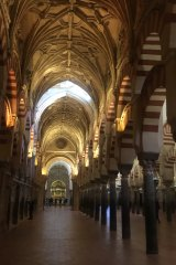 Eventually the Spaniards conquered Cordoba and plonked a cathedral in the heart of its main mosque.
