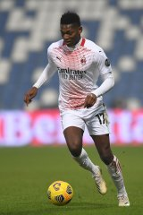 Rafael Leão in action for AC Milan.