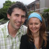 Justin Yerbury with his wife Rachel in 2008.