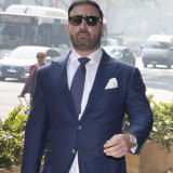 Anthony Hess arrives at court for his Roxy Jacenko AVO hearing.