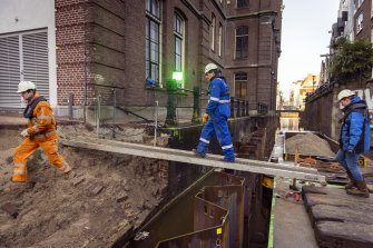 Steel pilings are becoming a common sight in Amsterdam, where more than 200 kilometres of canal walls need to be rebuilt.