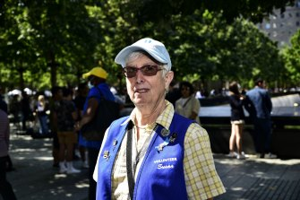 Susan Eisenberg was working as a nurse in New York City on September 11, 2001. Now she volunteers as a guide at the memorial.