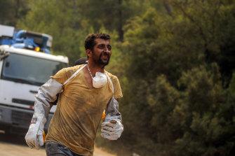 A Turkish volunteer.