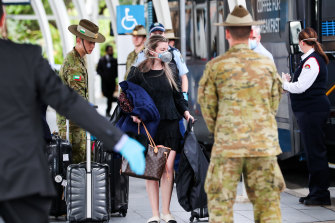 The military helped the police with compulsory quarantining at Sydney Airport in March last year. They have been called in to help again.