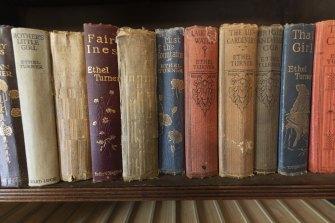 Ethel Turner tomes in the Killara house.