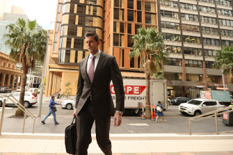 Ben Roberts-Smith arriving at the Federal Court in Sydney on Tuesday morning.