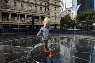 Ignatius Davey was one of the first to experience Matthias Schack-Arnott's installation in the Customs House forecourt.