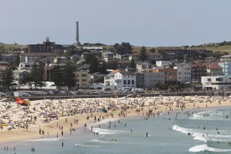 Bondi Beach on Saturday, just over a day before Sydney's lockdown will end.