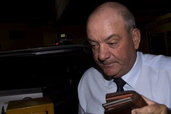 Daryl Maguire outside the ICAC on Friday.