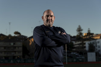 Argentina head coach Mario Ledesma at Coogee Oval last year.
