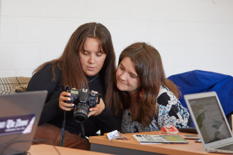 """Journalists Gabrielle Duykers and Eliza Berlage. Berlage, who has worked in Canberra and Victora, says of Naracoorte, """"The pace is more gentle, people care about you and know you. I like to connect, and belong."""""""