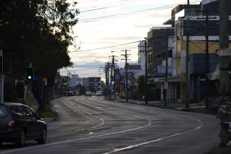 Quiet roads in Belmore as COVID-19 cases spill into the area.