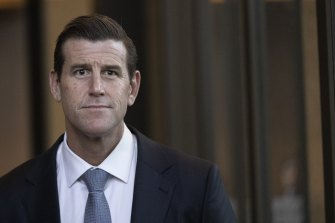 Ben Roberts-Smith after the Federal Court case's first day.