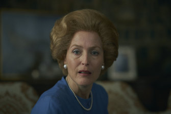 Gillian Anderson as Margaret Thatcher in the latest season of The Crown.