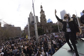 An anti-lockdown protest in July attracted thousands of attendees.