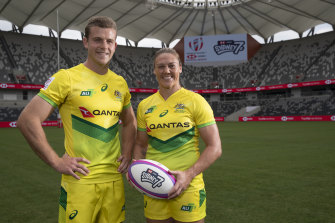 Australian captains Nick Malouf and Sharni Williams.