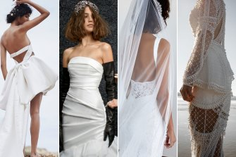 A selection of gowns from Helen O'Connor Bridal, Vera Wang Bride and Grace Loves Lace.