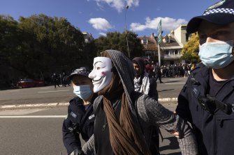 Police have warned organisers against holding another protest.