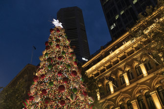 The Christmas tree in Martin Place.