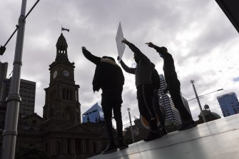The protest in Sydney attracted a diverse and large crowd.