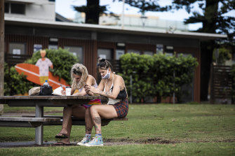 People in Byron are being more cautious and wearing masks after the suspected outbreak.