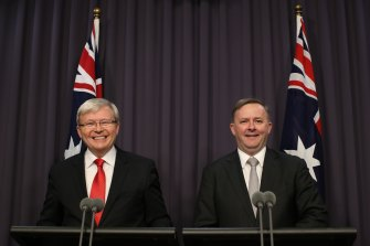 Tactical changes: Prime Minister Kevin Rudd and Deputy Prime Minister Anthony Albanese in July 2013.