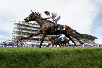 Anthony Van Dyck winning the Epsom Derby in 2019.