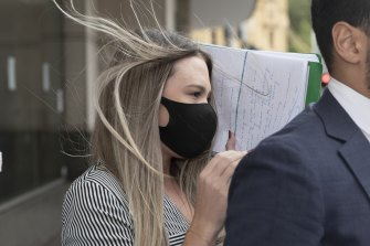 Monica Elizabeth Young outside Downing Centre court in February.