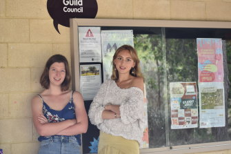 Murdoch university students who formed the New Vision for Guild party, Tess Mann and Lily Bourgeois.