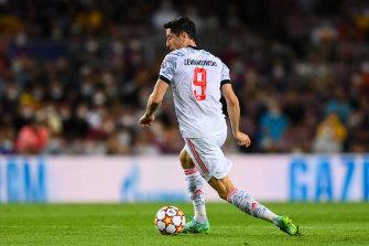 Mercurial striker Robert Lewandowski scored twice for Bayern in Barcelona.