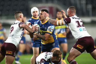 RCG in action against Manly last Saturday night.