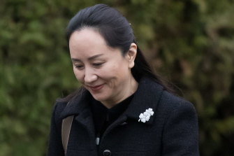 Meng Wanzhou, chief financial officer of Huawei, leaves her home for an extradition hearing at the Supreme Court in Vancouver, Canada.
