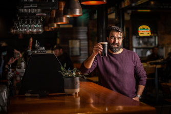 Publican Tom Streater from the Prince Alfred hotel in Port Melbourne was reprimanded by the Therapeutic Goods Administration this week for handing out free beers to vaccinated customers.