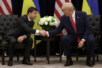 Trump met with Ukrainian President Volodymyr Zelensky in September.