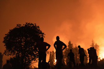 Heatwaves across the northern hemisphere have seen fires surge across Greece.