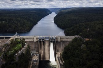 Warragamba Dam, the largest water supply dam in Australia, supplies 3.4 million people.