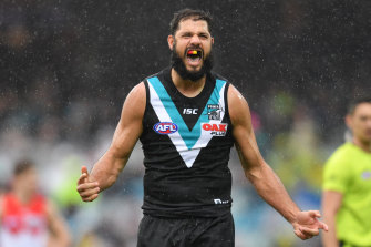 On the move? Port Adelaide ruckman Paddy Ryder.