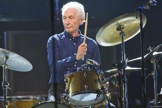 Charlie Watts performs with the Rolling Stones in Paris in 2017.