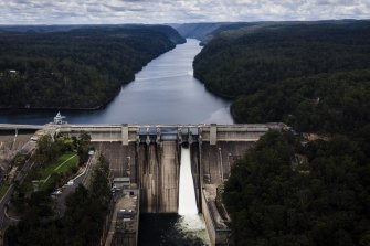 Warragamba Dam has begun to spill after Lake Burragorang reached almost 98 per cent capacity.