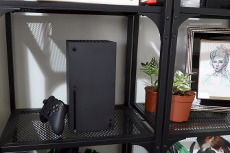 The Series X demanded its own shelf in my lounge room, mostly because it wouldn't have fit where my current Xbox lives.