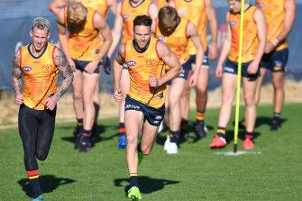 Adelaide at training this week.
