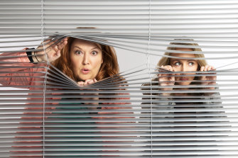 Part-Time Private Eyes was created by and stars Heidi Arena and Nicola Parry as school mums turned detectives.