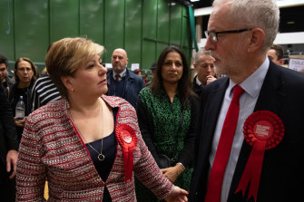Shadow foreign secretary Emily Thornberry and Labour leader Jeremy Corbyn after the opposition's disastrous election result.