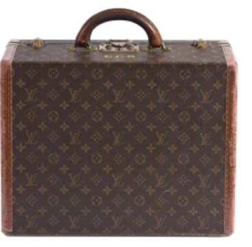 The Louis Vuitton suitcase has Christopher Skase's initials (CCS) in front of the handle.