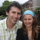 Justin Yerbury with his wife Rachel in 2008.
