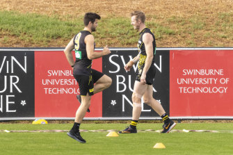 Richmond's Trent Cotchin is coming back from a hamstring injury.