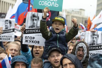 Russia has demanded YouTube stop showing ads promoting the protests.