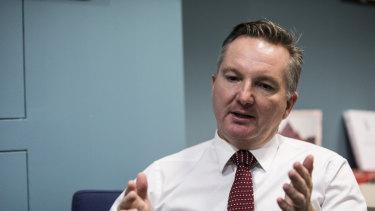 Labor's Chris Bowen, shadow treasurer.
