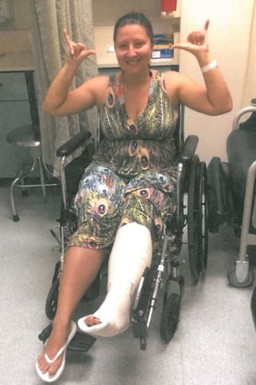 Anna Bowditch on holiday in Hawaii with broken leg